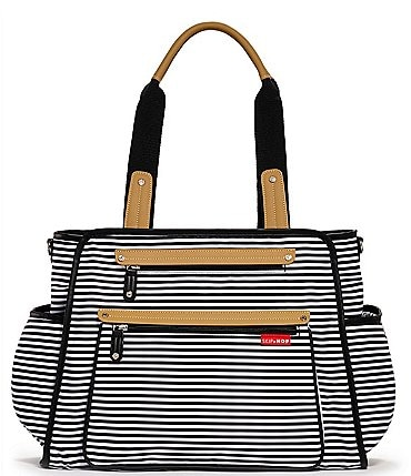 Image of Skip Hop Grand Central Take It All Striped Diaper Bag