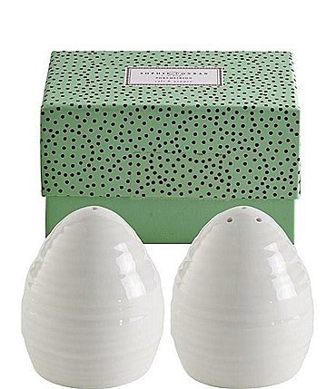 Image of Sophie Conran for Portmeirion White Dinnerware Salt & Pepper Set