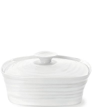 Image of Sophie Conran for Portmeirion White Porcelain Covered Butter Dish