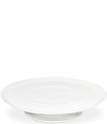 Image of Sophie Conran for Portmeirion White Porcelain Footed Cake Plate
