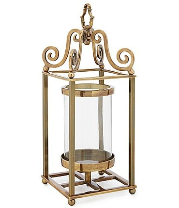 Image of Southern Living Spring Collection Goldtone Metal Lantern