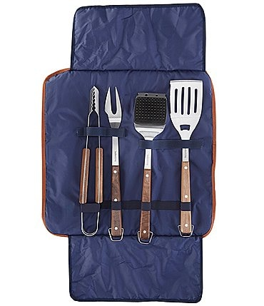 Image of Southern Living 4-Piece BBQ Grill Tool Set with Carry Bag