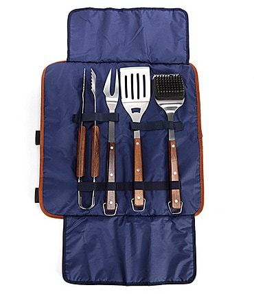 Image of Southern Living 4-Piece BBQ Tool Set with Carry Bag