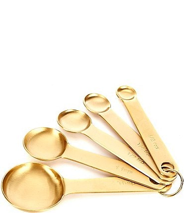 Image of Southern Living 5-Piece Gold Measuring Spoon Set