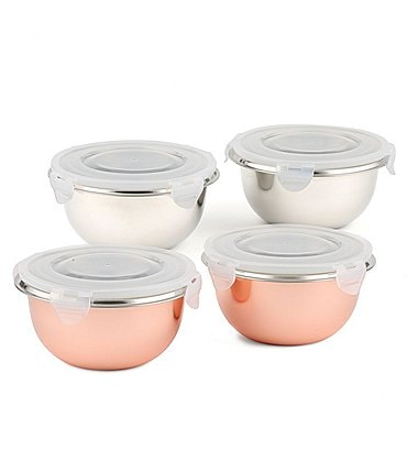 Image of Southern Living 8-Piece Stainless Steel Mini Prep Bowl Set