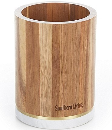 Image of Southern Living Acacia Wood Utensil Holder