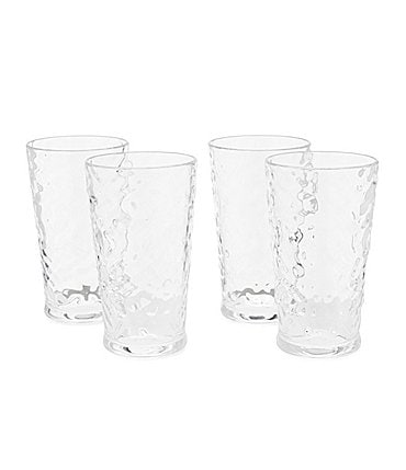 Image of Southern Living Acrylic Valencia Textured Tumblers, Set of 4