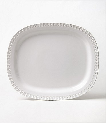 Image of Southern Living Alexa Embossed Stoneware Oval Platter