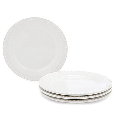 Image of Southern Living Alexa White Salad Plates, Set of 4
