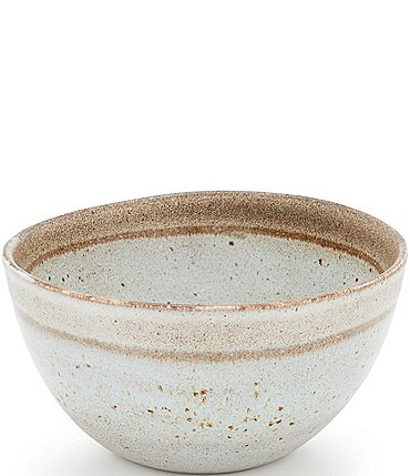 Image of Southern Living Astra Collection Glazed Stripe Cereal Bowl