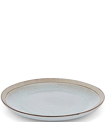 Image of Southern Living Astra Collection Glazed Stripe Round Serving Platter