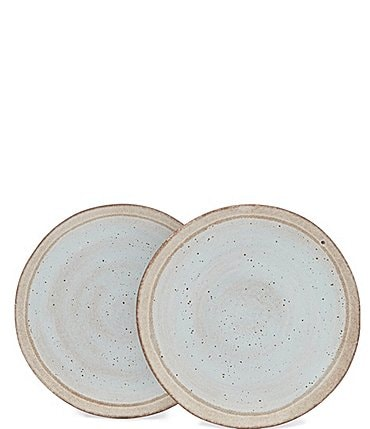 Image of Southern Living Astra Collection Glazed Stripe Side Plate, Set of 2