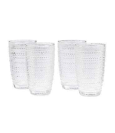 Image of Southern Living 4-Piece Beaded Highball Glass Set