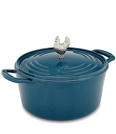Image of Southern Living Chicken-Knob Cast Iron Dutch Oven with Lid