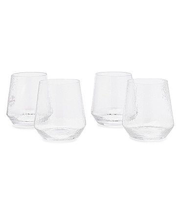 Image of Southern Living Clear Textured Double Old-Fashioned Drinkware, Set of 4