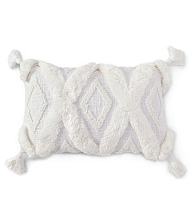 Image of Southern Living Coastal Collection Diamond Patterned Rectangular Pillow