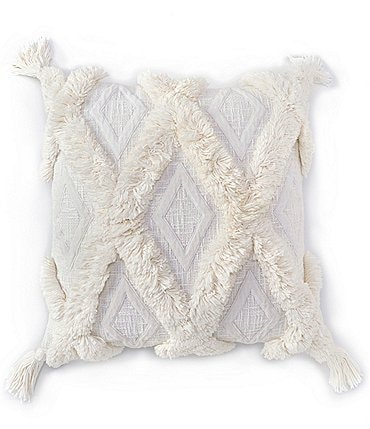 Image of Southern Living Coastal Collection Diamond Patterned Square Pillow
