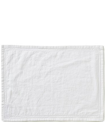 Image of Southern Living Double-Hem-Stitched Linen Placemat