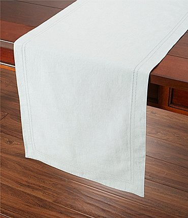 Image of Southern Living Double-Hem-Stitched Linen Table Runner