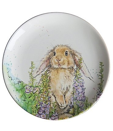 Image of Southern Living Easter Bunny Collection Maisie Bunny Accent Plate