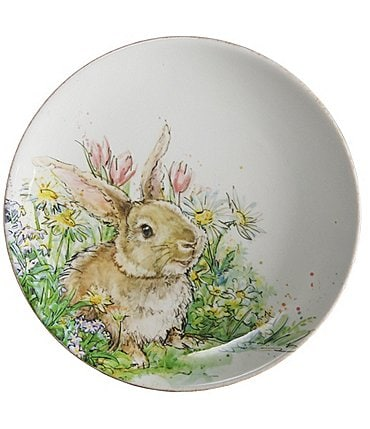 Image of Southern Living Easter Bunny Collection Winston Bunny Accent Plate