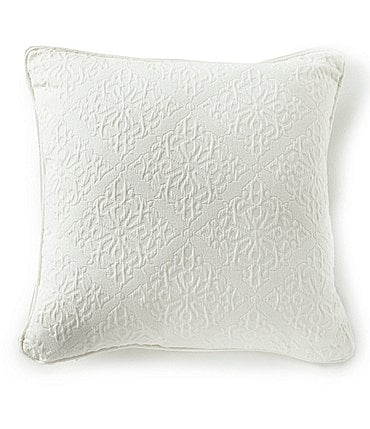 Image of Southern Living Emery Tile Jacquard Matelasse Square Pillow