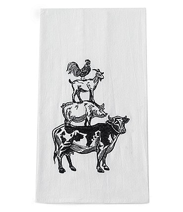 Image of Southern Living Farm Animal Print Kitchen Towel