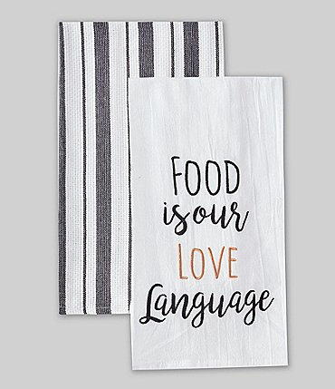 Image of Southern Living Food Is Our Love Language Kitchen Towels, Set of 2