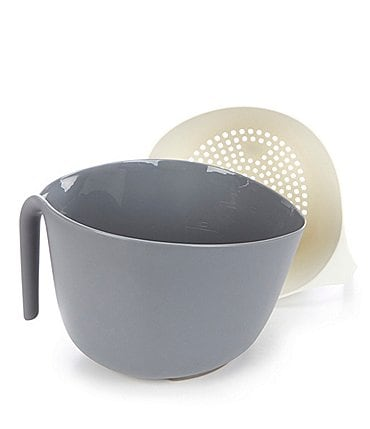 Image of Southern Living Grey Nesting Colander & Bowl Set