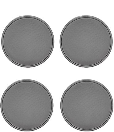 Image of Southern Living Gunmetal Hammered Coasters, Set of 4