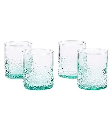 Image of Southern Living Hammered Double Old-Fashion Glasses, Set of 4