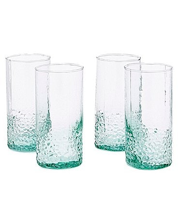 Image of Southern Living Hammered Highball Glasses, Set of 4