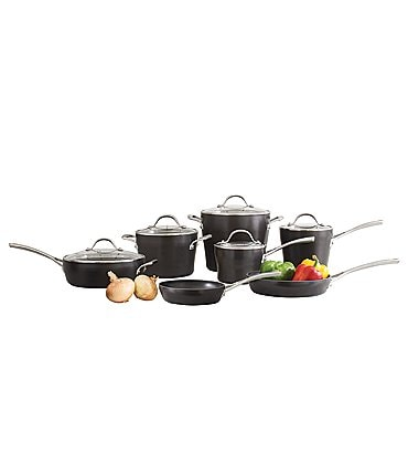 Image of Southern Living Hard-Anodized Aluminum 12-Piece Cookware Set