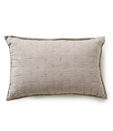 Image of Southern Living Heirloom Quilted Linen Breakfast Pillow