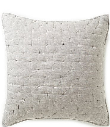 Image of Southern Living Heirloom Quilted Linen Euro Sham