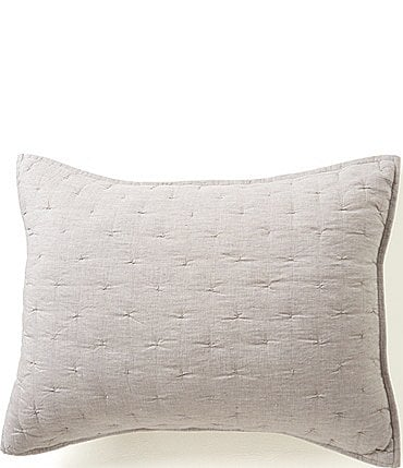 Image of Southern Living Heirloom Quilted Linen Sham