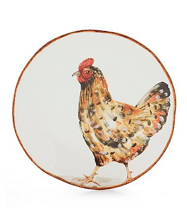 Image of Southern Living Hen Earthenware Salad Plate