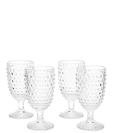 Image of Southern Living Festive Fall Collection Hobnail Goblet Set of 4