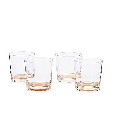 Image of Southern Living Holiday Gold Double Old-Fashion Drinkware, Set of 4