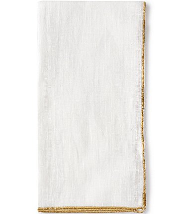 Image of Southern Living Gold Trim Napkin