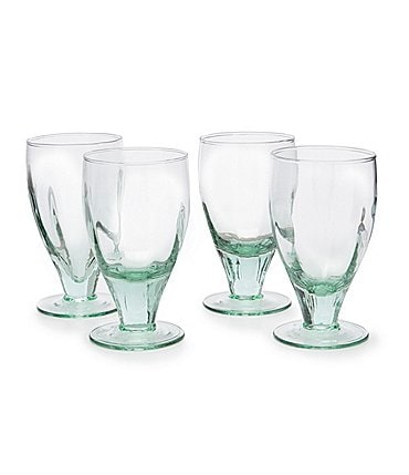 Image of Southern Living Spring Collection Ibiza Recycled Glass Goblets, Set of 4