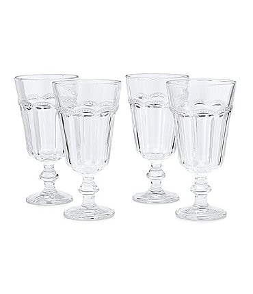 Image of Southern Living Lace Footed Clear Goblet Set of 4