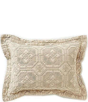 Image of Southern Living Lancaster Tiled Matelassé Breakfast Pillow