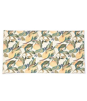 Image of Southern Living Kitchen Solution Collection Lemon Print Kitchen Floor Mat