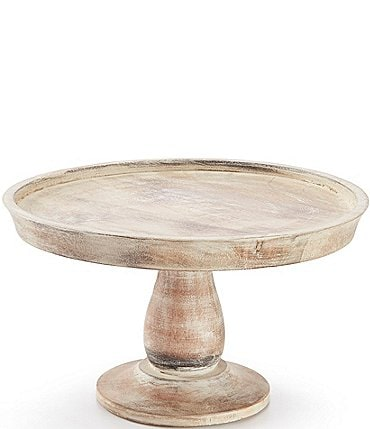Image of Southern Living Festive Fall Mango Wood Cake Stand