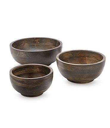 Image of Southern Living Mango Wood Round Bowl