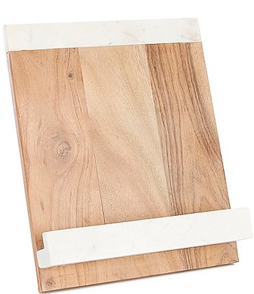 Image of Southern Living Marble and Acacia Wood Cookbook Holder