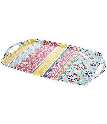 Image of Southern Living Melamine Boho Brights Serving Tray