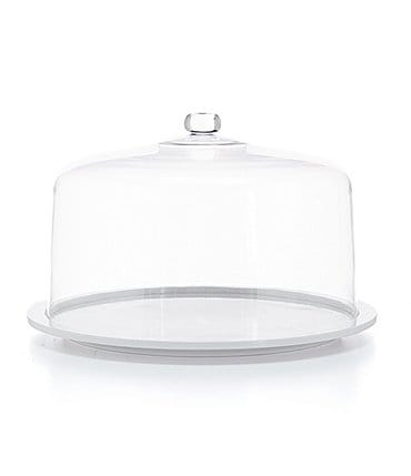Image of Southern Living Melamine Cake Plate with Acrylic Dome