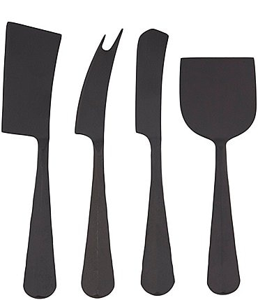 Image of Southern Living New Slate Black Cheese Knives Set of 4